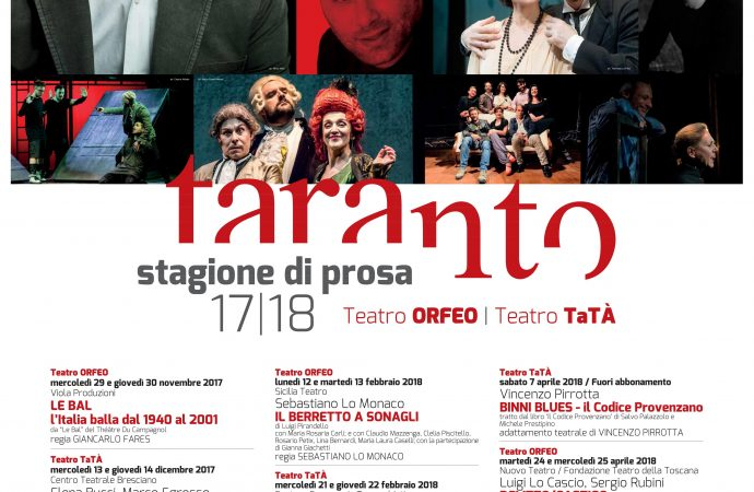 Teatro, la stagione tarantina da Saviano a Lo Cascio: titoli, date e prezzi
