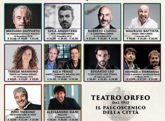 Orfeo, il calendario definitivo della stagione teatrale