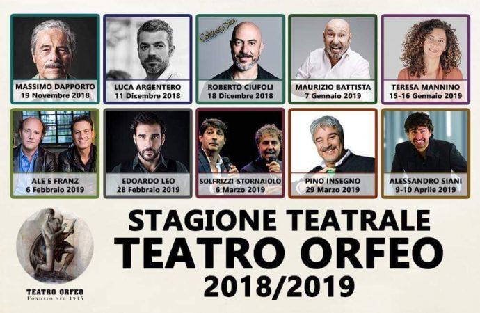 Orfeo, stagione 2018-2019: il cartellone teatrale