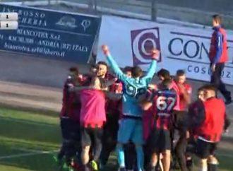 Andria-Taranto 1-1, ci pensa Marsili al 96′