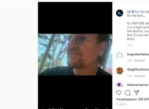 E Bono Vox dedica un brano all'Italia…