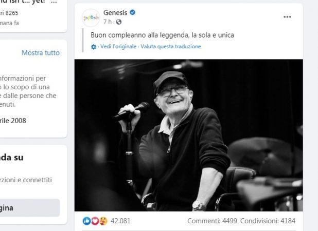 Musica, Phil Collins compie 70 anni. Rinviato a settembre il tour dei Genesis