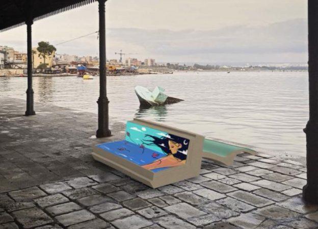 Taranto, arrivano le panchine letterarie d'autore