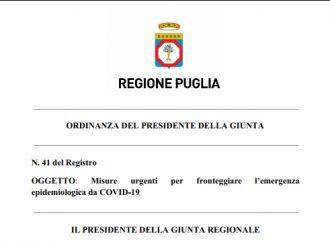 Scuola, nuova ordinanza di Emiliano: sarà in vigore dall'8 al 20 febbraio