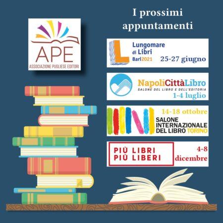 Le iniziative dell'Associazione Pugliesi Editori, si parte con Lungomare di libri a Bari