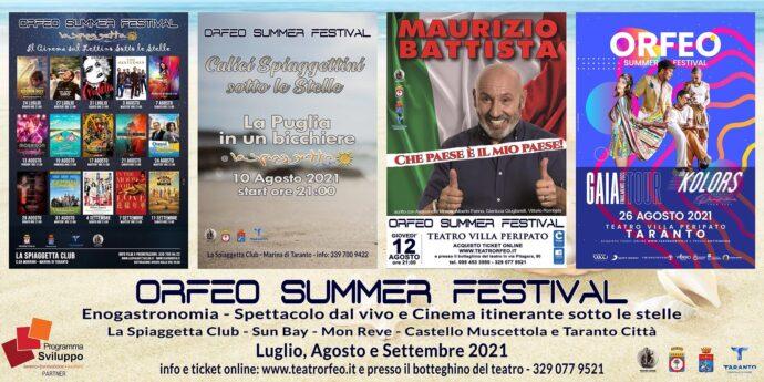 Musica, cinema, spettacoli all'Orfeo Summer Festival