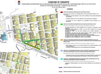 Limitazioni a traffico e sosta in occasione del Taranto Jazz Festival: il dettaglio