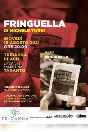 """""""Fringuella"""", il libro di Michele Tursi questa sera al Tridakna Beach"""