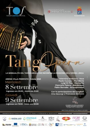 Taranto Opera Festival, gran finale con il Tango in villa Peripato