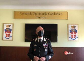 Il colonnello Giardelli al comando dei Carabinieri della provincia ionica
